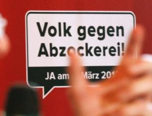 Volksabstimmung gegen Abzockerei in der Schweiz